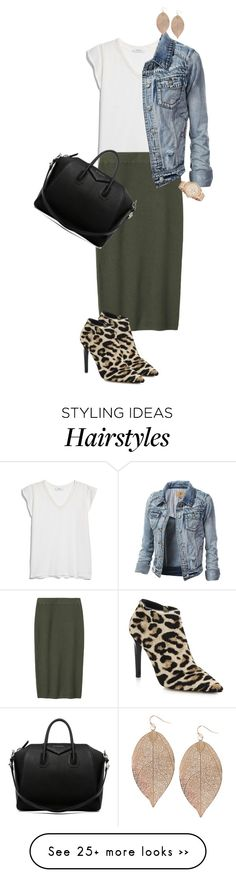 """""""Untitled #1067"""" by majajevrem on Polyvore featuring MANGO, Toast, Jimmy Choo, FOSSIL, Humble Chic and Givenchy"""