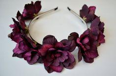 Violette Rosen Blumenkrone Blumenhaarreifen von michaelascalisi, 20.00