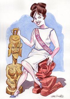 Miss Yogurt 1964 by Geo Parkin