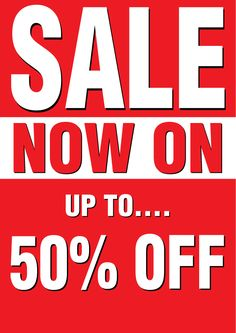 A picture of sale poster 8