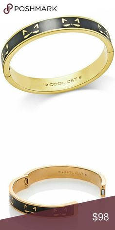 ???Kate SpadeCool Cat Magnetic Enamel Bracelet? **COMING SOON!!  DETAILS  MATERIAL: shiny gold plated metal with enamel fill  FEATURES: magnetic closure style # wbrud047  DETAILS: weight: 41.38 g width: 10 mm interior inscription reads: cool cat.  handcrafted,  imported  Comes With A Kate Spade Pouch Fast Shipping! kate spade Jewelry Bracelets