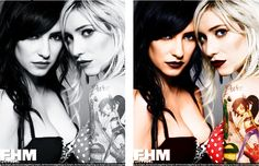The Veronicas colored.