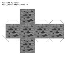 Minecraft Papercraft Coal Ore -can you imagine if I put Minecraft coal in Michaels stocking?  Diabolical me is getting a little thrill just thinking about it.
