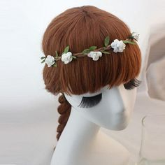 Sannysis 1PC Lovely Elegant Flowers Adorn Article Hair Hoop Hair Band For Beach Girls (White) *** Continue to the product at the image link.