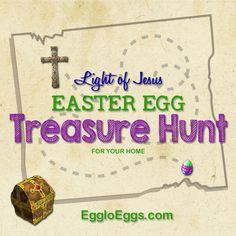 Light of Jesus Easter Egg Treasure Hunt   Egglo Eggs