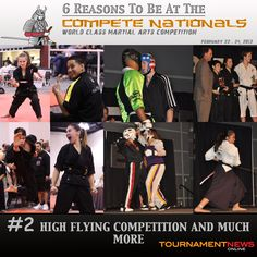 "Top 6 Reasons To Be At.... The Compete International Martial Arts Championship February 22-24, 2013.     Reason #2: High Flying Competition and Much More.  In the past few years the Compete Nationals has seen not only some of California's best but some of the world's toughest competitors.   Be there to take part of ""The Compete Experience"" and see the action live.    Register today. Visit http://www.compete-karate.com/"