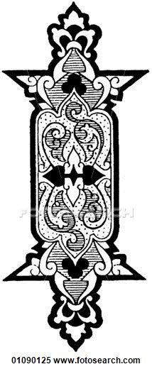 line art Persian Ornament Motifs