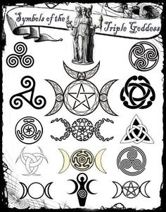 Most popular tags for this image include: wicca, pagan, triple goddess and witch Goddess Symbols, Pagan Symbols, Triple Goddess Symbol, Celtic Mythology, Viking Symbols, Egyptian Symbols, Ancient Symbols, Triple Moon Goddess, The Goddess