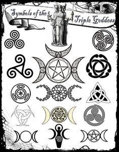 Symbols of the Triple Goddess- Wicca/Pagan