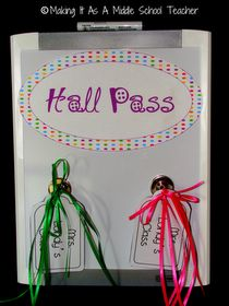 Classroom DIY: DIY Hall Passes with Fewer Germs- super idea! Classroom Passes, School Classroom, Classroom Organization, Classroom Decor, Classroom Management, Modern Classroom, Classroom Projects, Class Management, Behavior Management