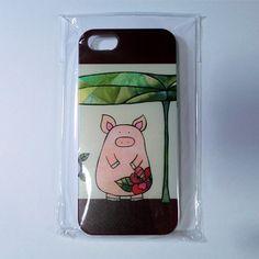 こぶたのちーちゃんの切り絵デザインのiPhone5のケース|ハンドメイド、手作り、手仕事品の通販・販売・購入ならCreema。