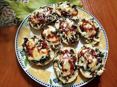 Kuchnia domowa Ani: Mini zapiekanki Mozzarella, Pancakes, Muffin, Breakfast, Food, Morning Coffee, Essen, Pancake, Muffins