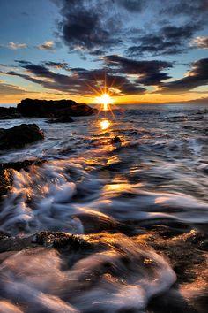 Sun Vs sea by Max Lucotti, via 500px ~ Liguria, Italia