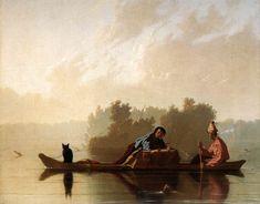 George Caleb Bingham, Fur Traders Descending the Missouri River, 1845