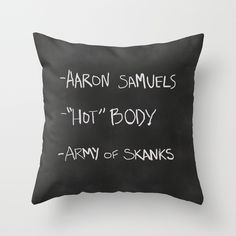 Regina George's Resources from the movie Mean Girls Throw Pillow