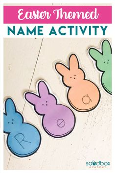 Invite your preschooler to practice writing their name with this editable Peeps inspired name activity. Type in your preschooler's name so that they can trace. This activity is part of my Easter mini bundle. Do not purchase if you own the Easter bundle. Kindergarten Name Activities, Preschool Names, Homeschool Preschool Curriculum, Preschool Art Projects, Preschool Printables, Easter Activities, Preschool Lessons, Easter Printables, Preschool Learning