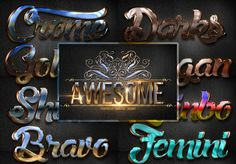 10 Different Shine Styles by dian_dhanny on Creative Market