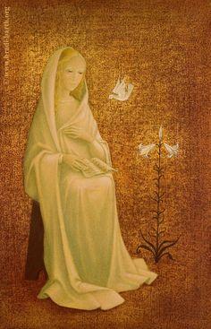 The Virgin at prayer  by Bradi Barth