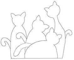 Artesanato e Cia : Moldes (riscos) de gatos