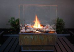personal glass fire pit