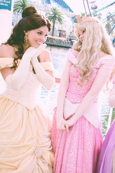 Sleeping Beauty and Belle Disney Nerd, Disney Fun, Disney Magic, Disney Parks, Walt Disney World, Disney Stuff, Princess Belle, Princess Aurora, Disney World Characters