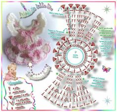 ¤*L'ARCoBaLeNo DeLLe IDee*¤: Mini vestina *BaMBoLiNa* with some modifications it would work on a clothpin doll . Crochet Gifts, Diy Crochet, Crochet Dolls, Crochet Clothes, Crochet Baby, Crochet Diagram, Crochet Motif, Crochet Flowers, Crochet Patterns