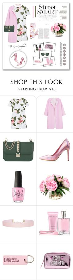"""""""What is lovely never dies, But passes into other loveliness"""" by kikusek ❤ liked on Polyvore featuring MANGO, Jil Sander, Valentino, Charlotte Russe, OPI, Humble Chic, Lancôme and Various Projects"""