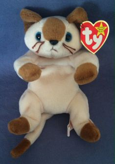 48093e9789b TY - BEANIE BABY - SNIP THE SIAMESE KITTEN - MINT CONDITION With Original  Tags!