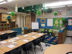 The Creative Chalkboard: Classroom Tour Pictures Galore!  Amazing way to make a tree hang from the ceiling!