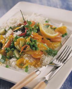 Erbsen-Curry mit Koriander | Kalorien: 340 Kcal - Zeit: 1 Std. 10 Min. | http://eatsmarter.de/rezepte/erbsen-curry-mit-koriander