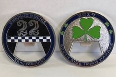 Challenge Coins Being Sold By Morgan Park Police Before South Side Parade St Patricks Day Parade, Challenge Coins, Retirement Parties, Police Officer, Badges, Patches, Military, News