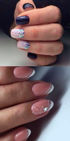 6 Glitter Nail Art Designs – Sparkly Ideas for Chic Glitter – Arts Nails French Nail Designs, Nail Art Designs, Gel Nails, Acrylic Nails, Nail Station, Pretty Nail Art, Glitter Nail Art, Prom Nails, Gorgeous Nails