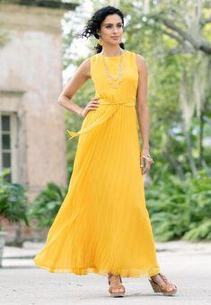 7db31cca4ac Pleated Maxi Dress Junior Misses Cato Fashions