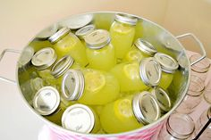 OHMYLANTA!!! This is the perfect refresher for those 100+ degree sessions,,,just make the lemonade, add a slice, put in a chiller, and you're ready to go...Imagine the surprise of the clients when you pop these out for a treat!! Saw this for a baby shower...great idea!