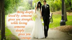 Being deeply loved by someone gives you strength, while loving someone deeply gives you courage. I Love My Hubby, Love You Baby, Happy Quotes, Love Quotes, Happiness Quotes, Make Friends Online, Motivational Thoughts, Wishes For You, Speak The Truth