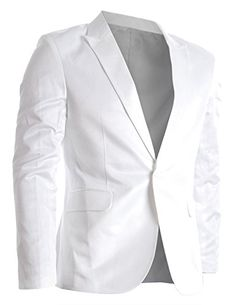 FLATSEVEN Mens Slim Fit Stylish Peaked Lapel Blazer Jacket White, M (Chest 40) FLATSEVEN http://www.amazon.com/dp/B00FKQ2Y6C/ref=cm_sw_r_pi_dp_lBb6ub1CWYSY9#FLATSEVEN #MENSWEAR #WHITE