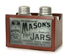 Mason's Salt and Pepper Shakers with Caddy