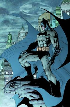 Batman by Jim Lee__One of the most iconic Batman artworks ever. Batman is the light amidst the darkness that is Gotham City. Batman Hush, Jim Lee Batman, Batman Vs Superman, Spiderman, Batman Comic Art, Batman Fight, Batman And Catwoman, Batman Arkham, Batman Robin