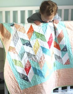 Fun Chevron pattern, would be great for a jelly roll. http://www.cluckclucksew.com/2013/03/coral.html