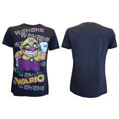 #mario #wario #nintendo #tshirt #1up #nes #8bit #retro