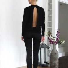 Nordstrom Ali & Kris Blouse Like new!! black blouse from Nordstrom. Open back, long sleeve, sheer top 😍 The perfect night out blouse! Brand is Ali & Kris from Nordstrom. Make me an offer ❤️😘 ASOS Tops Blouses