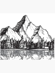 Free cliparts pictures provides you with 18 tree drawing mountain clip arts. All of these Tree drawi Mountain Landscape Drawing, Landscape Drawings, House Landscape, Landscape Design, Pencil Art Drawings, Art Drawings Sketches, Easy Drawings, Tree Drawings, Drawing Trees