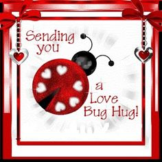 Sending you a love bug hug! Thank you my Lovebug! Good Morning Good Night, Good Morning Quotes, Night Quotes, Hug Quotes, Love Quotes, Girl Quotes, Ladybug Quotes, Hug Pictures, Hug Images