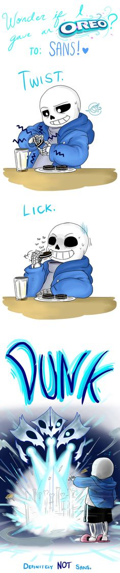 Wonder if I gave an OREO to Sans by perfectshadow06