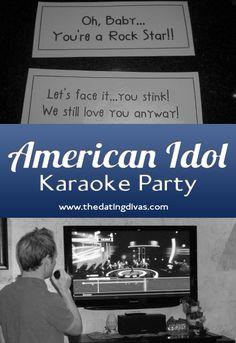 American Idol Karaoke Party Date Night Idea from The Dating Divas