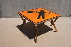 Flagman Table. Not that I resent the unending construction next door... nooooo.
