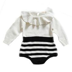 Baby Girls Stripe Romper Knitted Ruffle Long Sleeve Jumpsuit Baby Kids Girl Romper Autumn Winter Casual Clothing Stylebaby, http://www.amazon.com/dp/B0767RB52J/ref=cm_sw_r_pi_dp_x_b8i2zbR2HZYNH