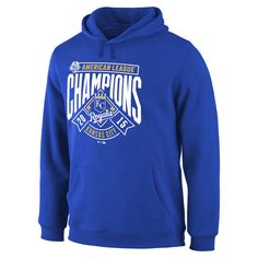 Kansas City Royals 2015 American League Champions Double Play Pullover Hoodie - Royal - $48.44