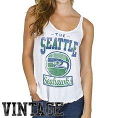 Junk Food Seattle Seahawks Ladies Touchdown Tank Top - White