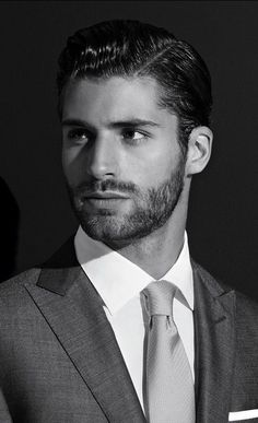 Hair, beard, suit, shirt and tie. Hot Men, Sexy Men, Hot Guys, Sexy Guys, Dapper Gentleman, Dapper Men, Beautiful Men Faces, Gorgeous Men, Moustache